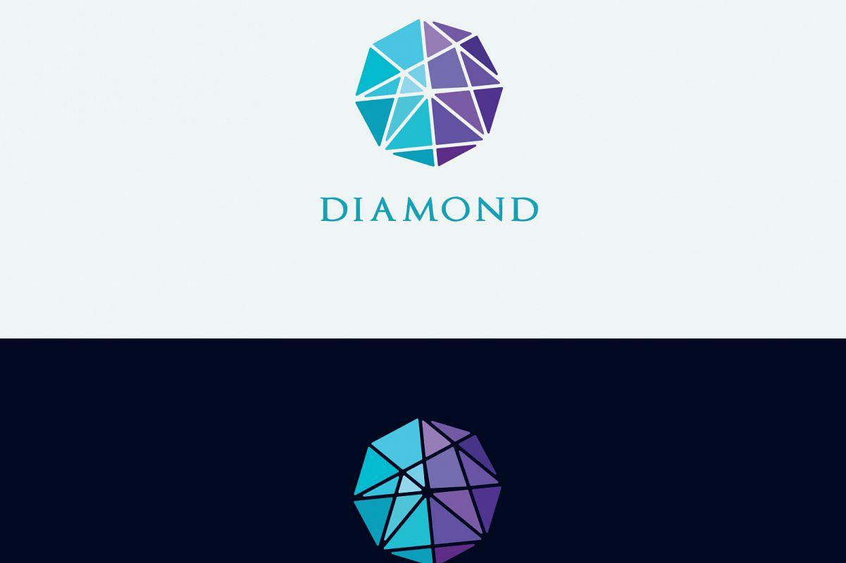 Diamond vector logos collection example image 1