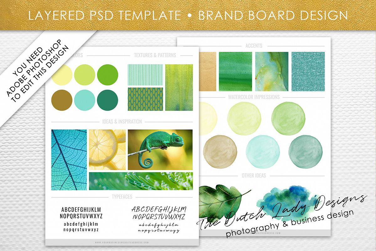 psd brand design board template design 2