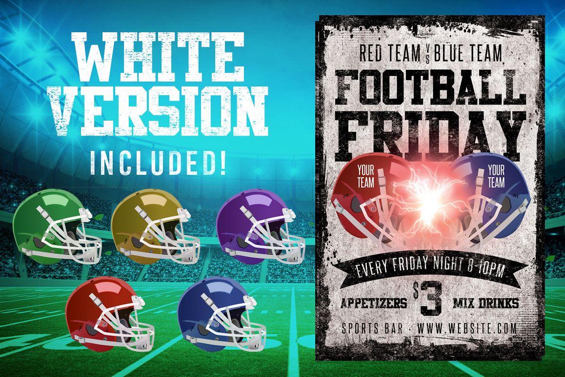 Chalk Football Friday Flyer example image 1