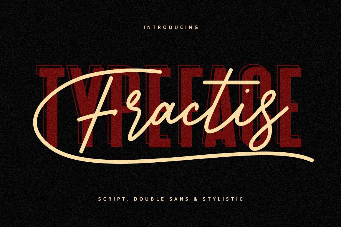 Fractis Typeface Collection example image 1