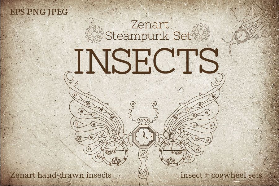 Zenart Steampunk Insects Set example image 1