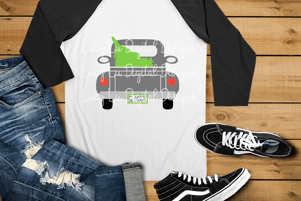 Be Merry Christmas Tree Truck example image 1