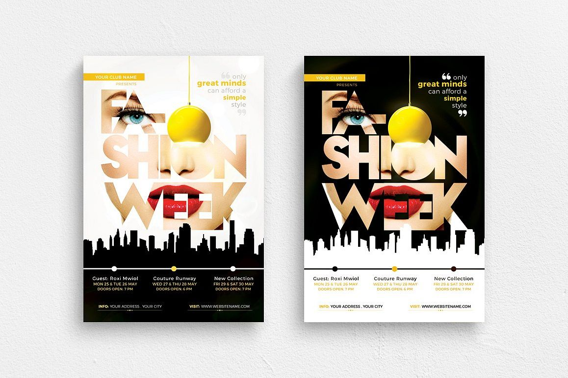 Fashion Week Flyer Template example image 1