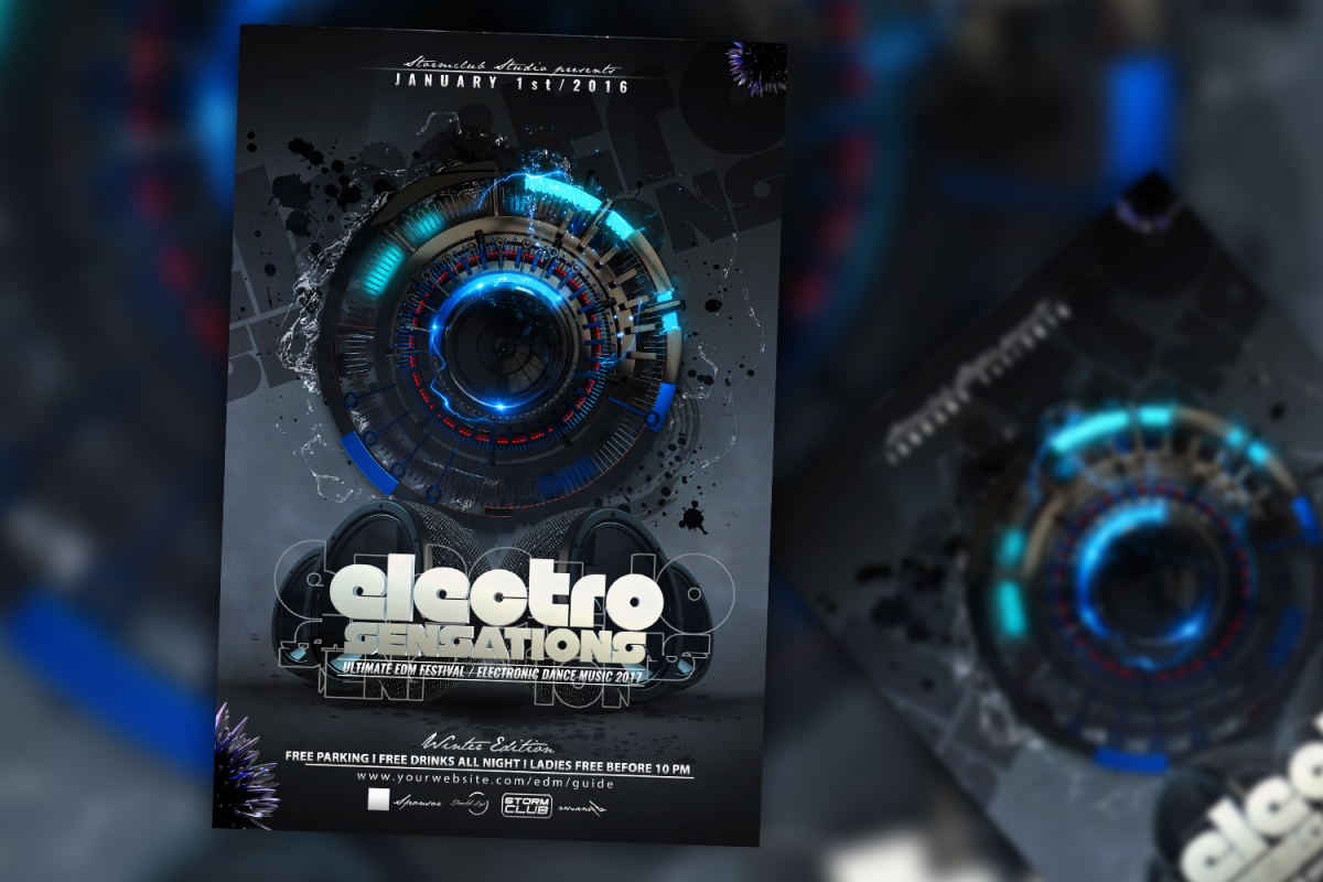 Electro House Flyer example image 1