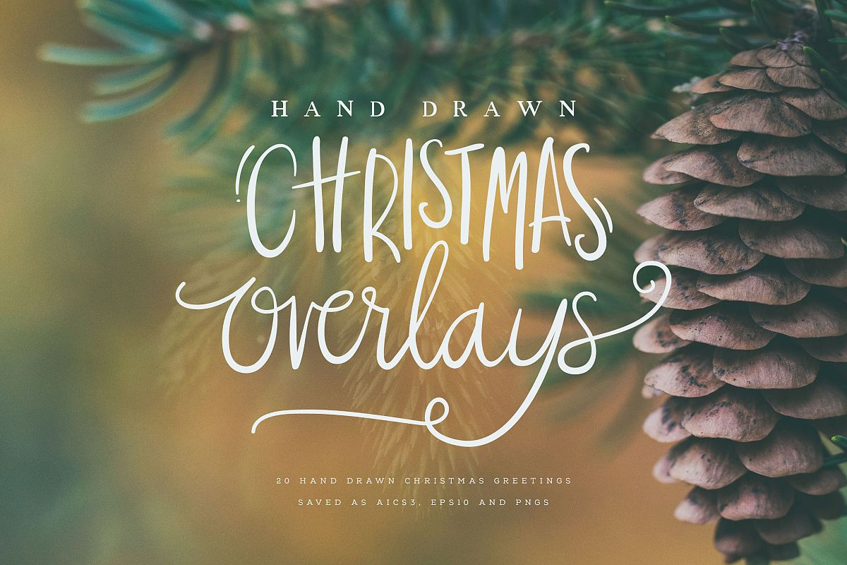 Hand Drawn Christmas Overlays example image 1