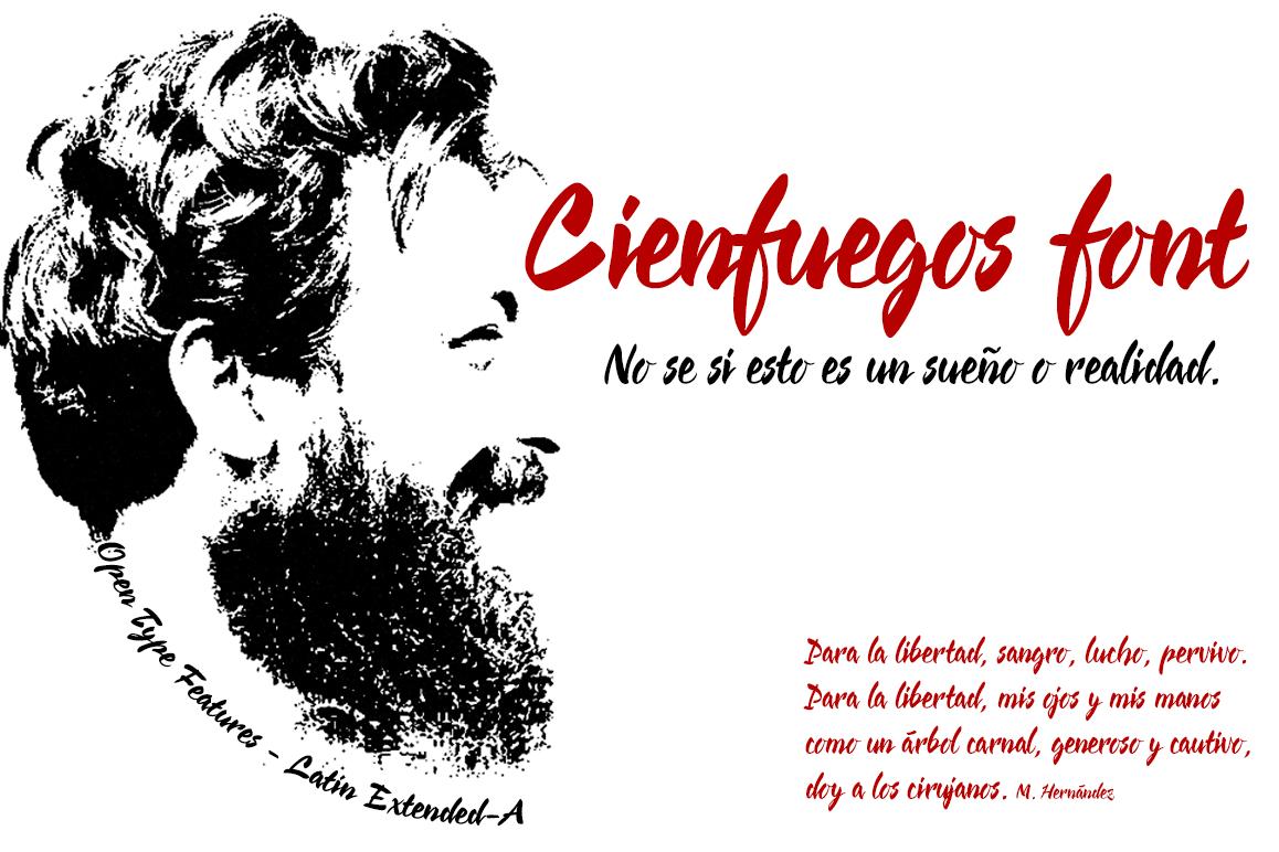 Cienfuegos font example image 1