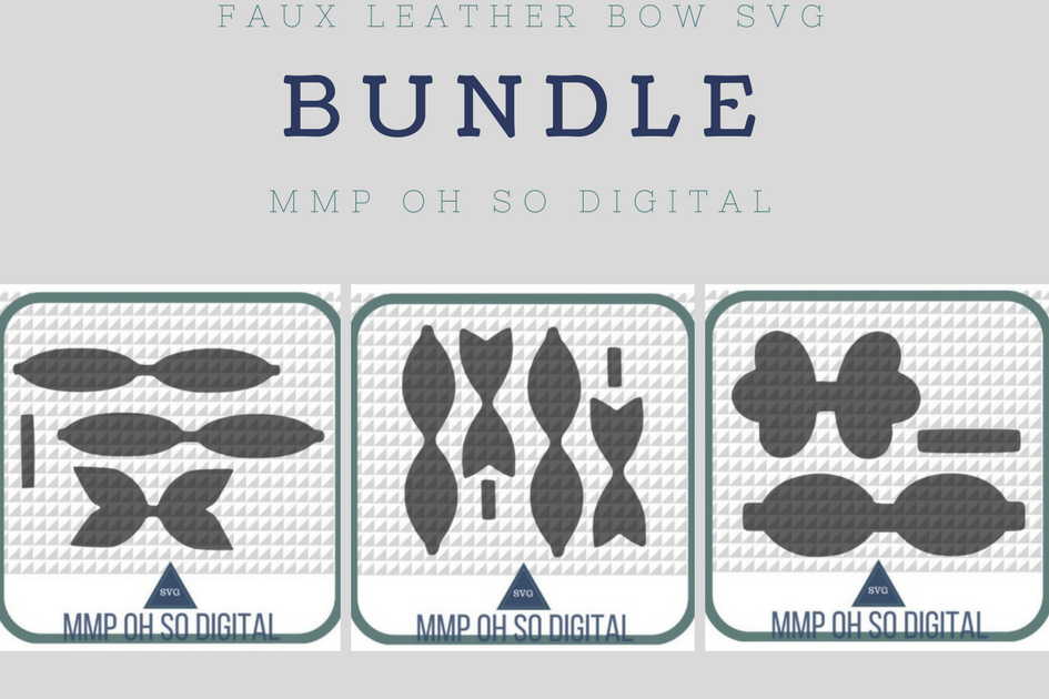 Faux Leather Bow Svg Bundle Bow Template Bow Svg Template Bundle Svg Bundle Scalloped Bow Svg Baby Shower Gifts