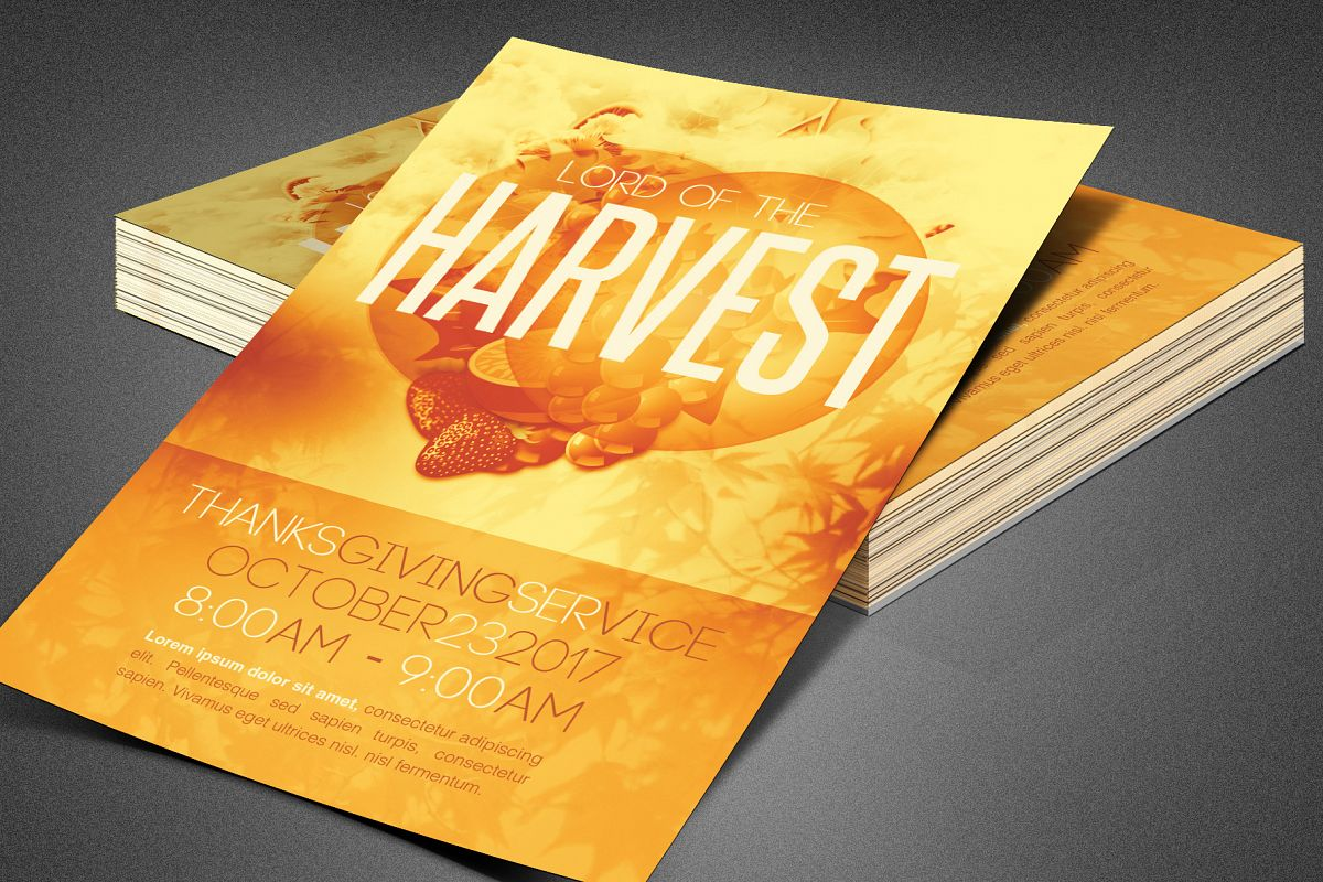 Lord of the Harvest Church Flyer example image 1
