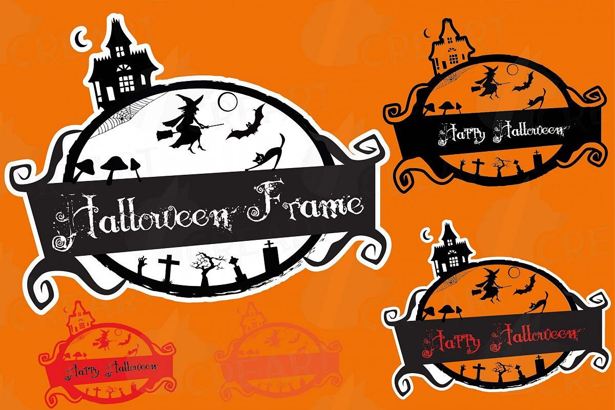 halloween digital frames 2, halloween photo frames, graphics