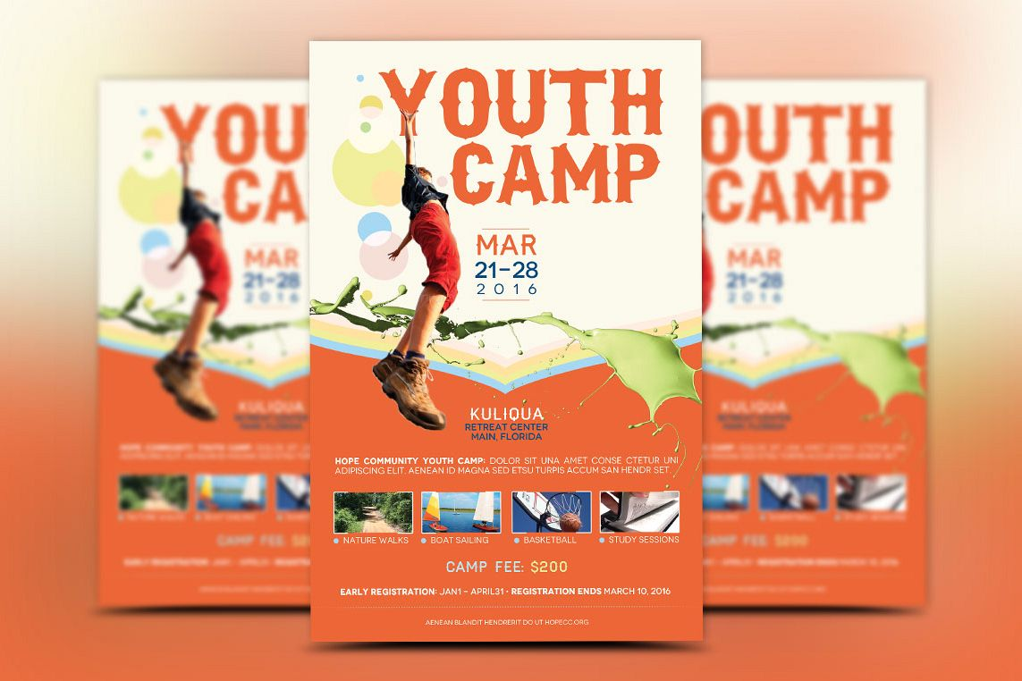 Youth Camp Flyer Template example image 1