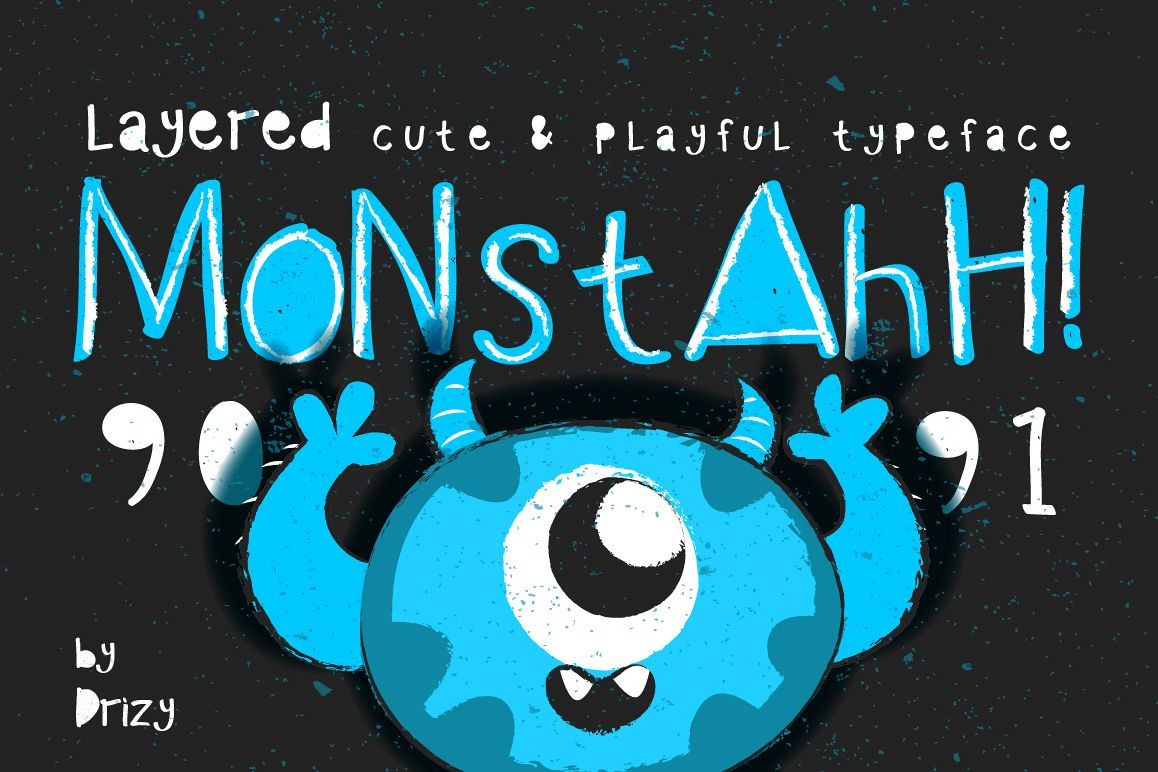 Monstahh Layered Typeface example image 1