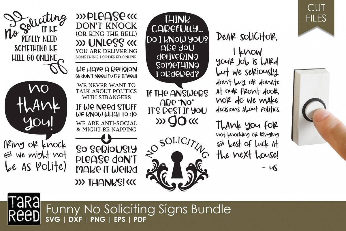 It is a picture of Irresistible Funny No Soliciting Sign Printable