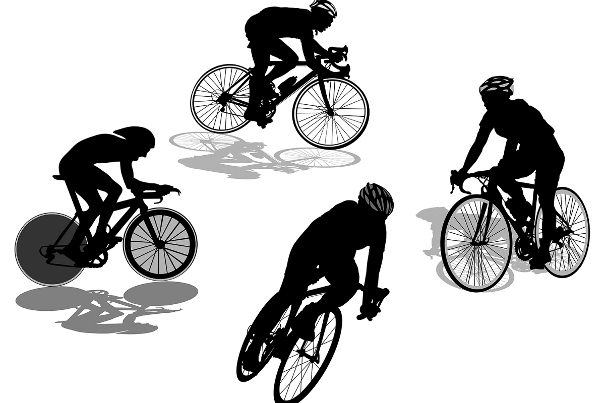 Cyclist Silhouette Vector Set example image 1