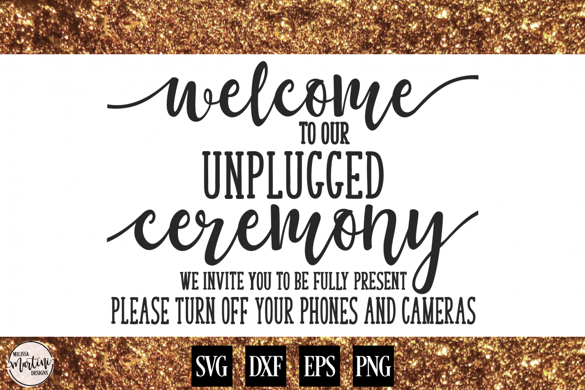 Welcome to Our Unplugged Ceremony Wedding Sign example image 1