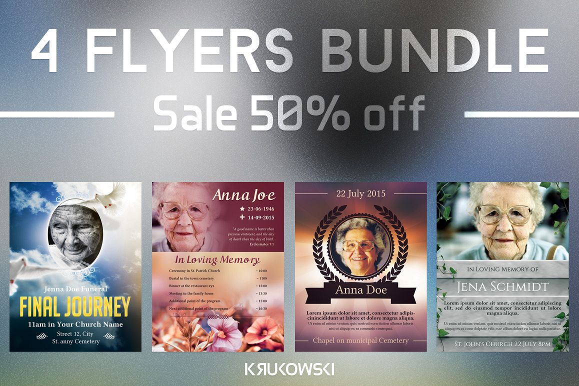 funeral flyers bundle