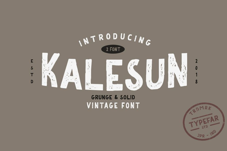 Kalesun Vintage Font example image 1