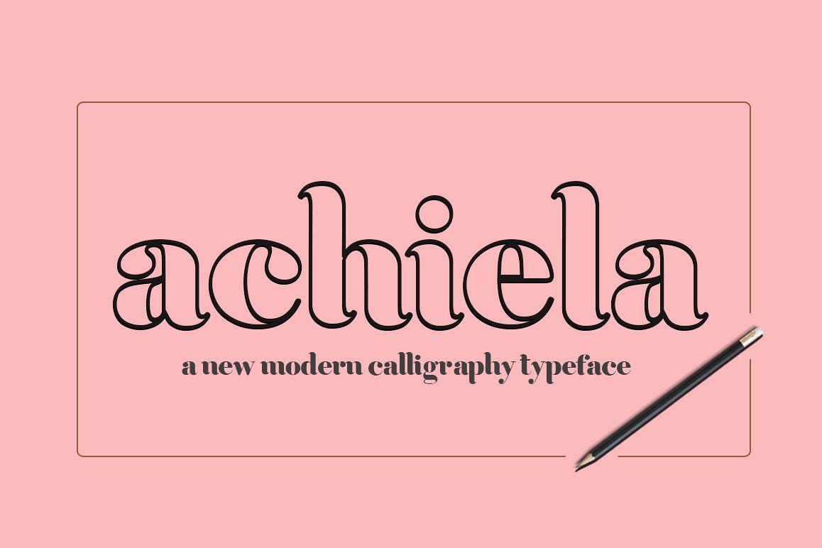 Achiela font family example image 1