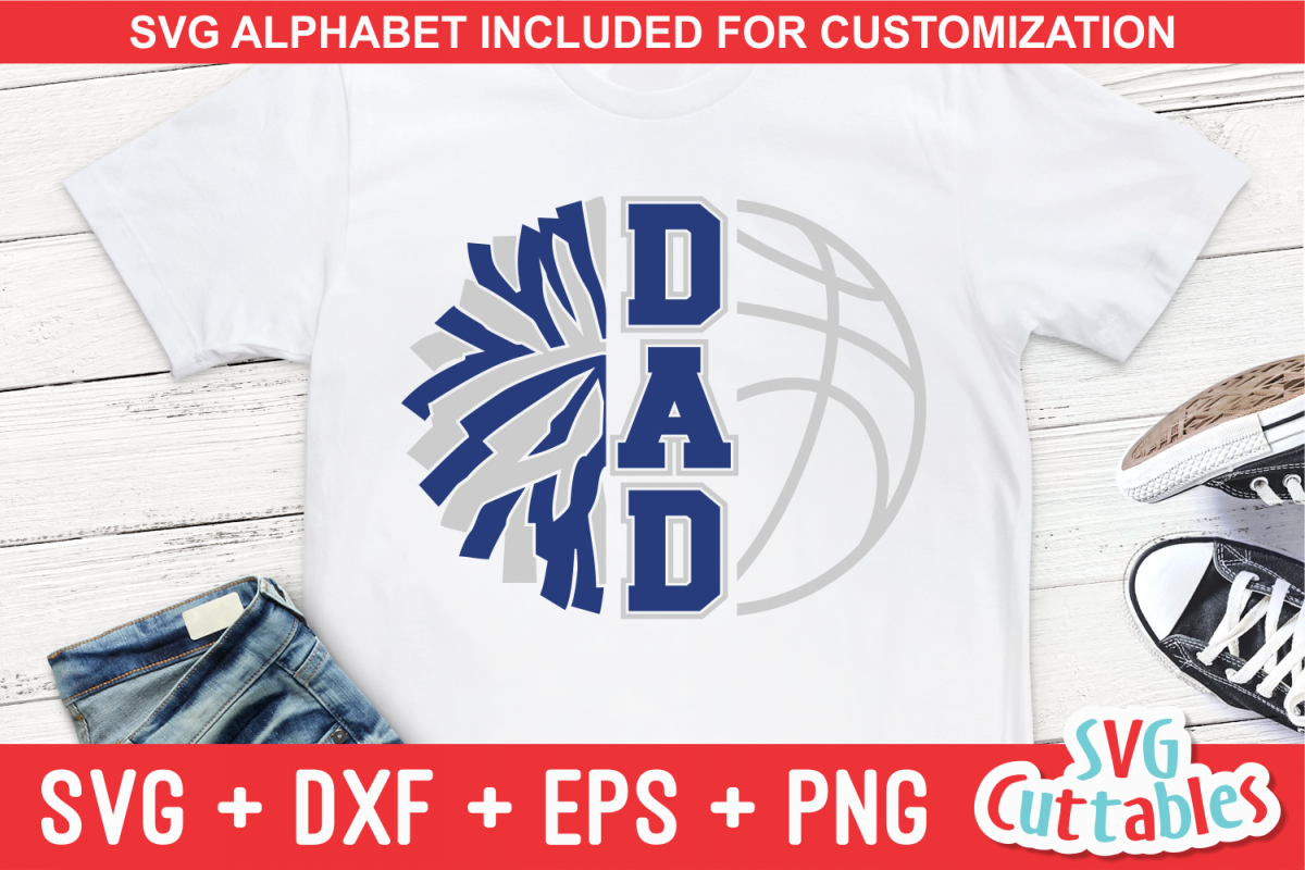 Basketball and Cheer Dad | svg Cut File example image 1