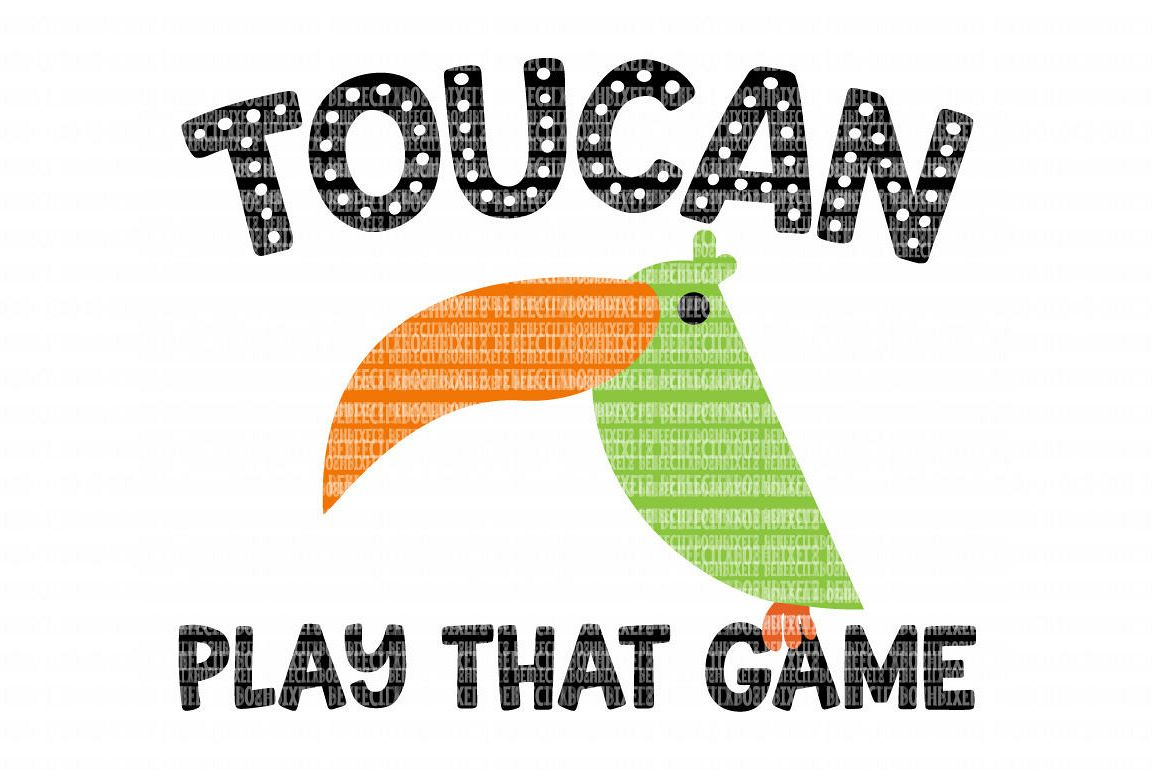 Toucan Play That Game SVG Files for Silhouette and Cricut Design Space Christmas Cut File Printable Transfer Decal DXF Commercial Use example image 1