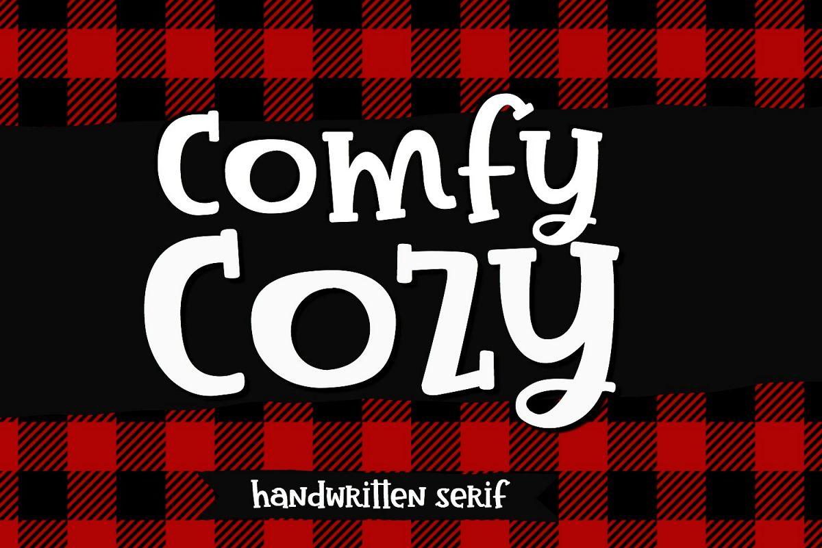 Comfy Cozy Serif Handwritten Font example image 1