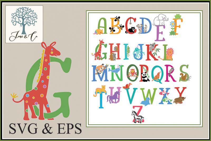 Children's Illustrated Animal Alphabet example image 1