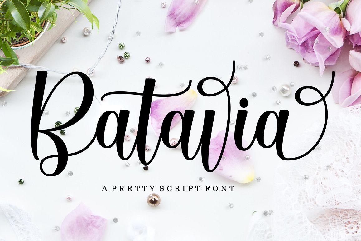 Batavia Script example image 1