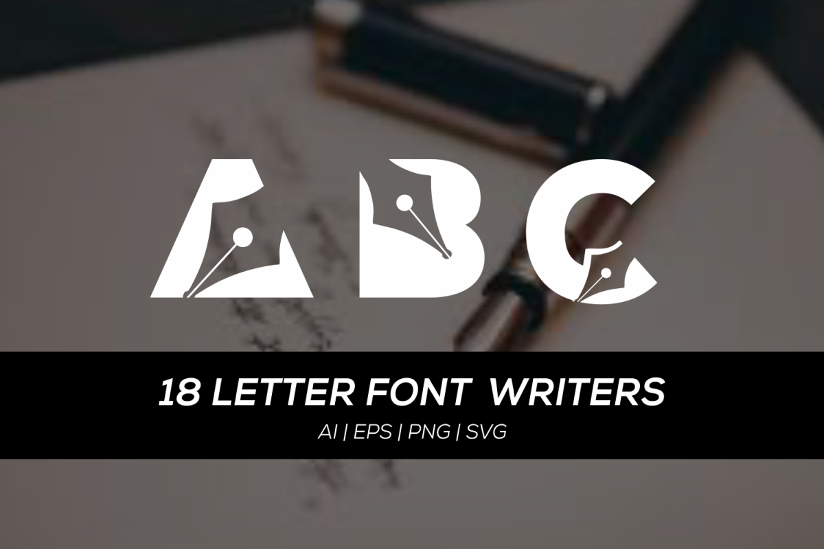18 letters font writers example image 1