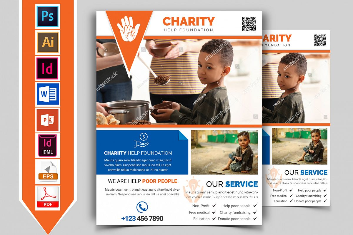 Charity Donation Flyer Vol-03 example image 1