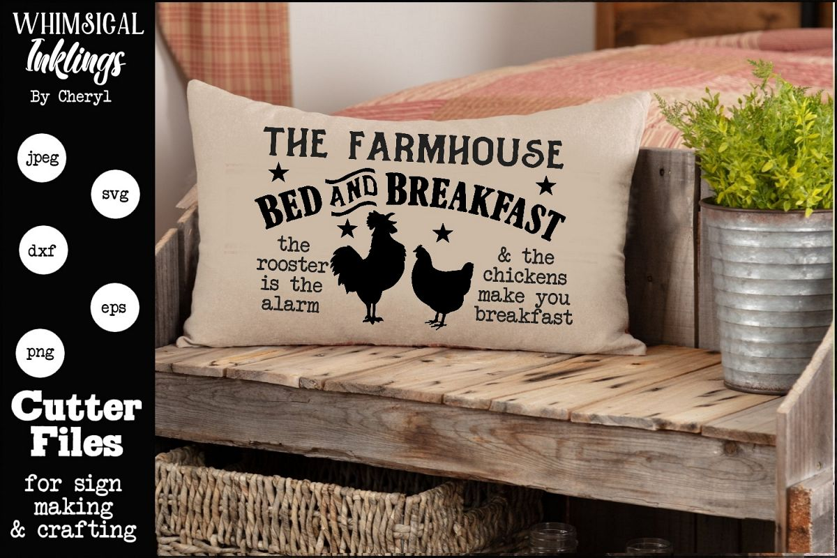 The Farmhouse Bed and Breakfast 2 SVG example image 1