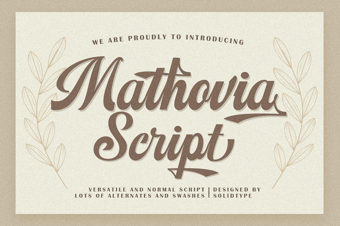 Mathovia Script example image 1