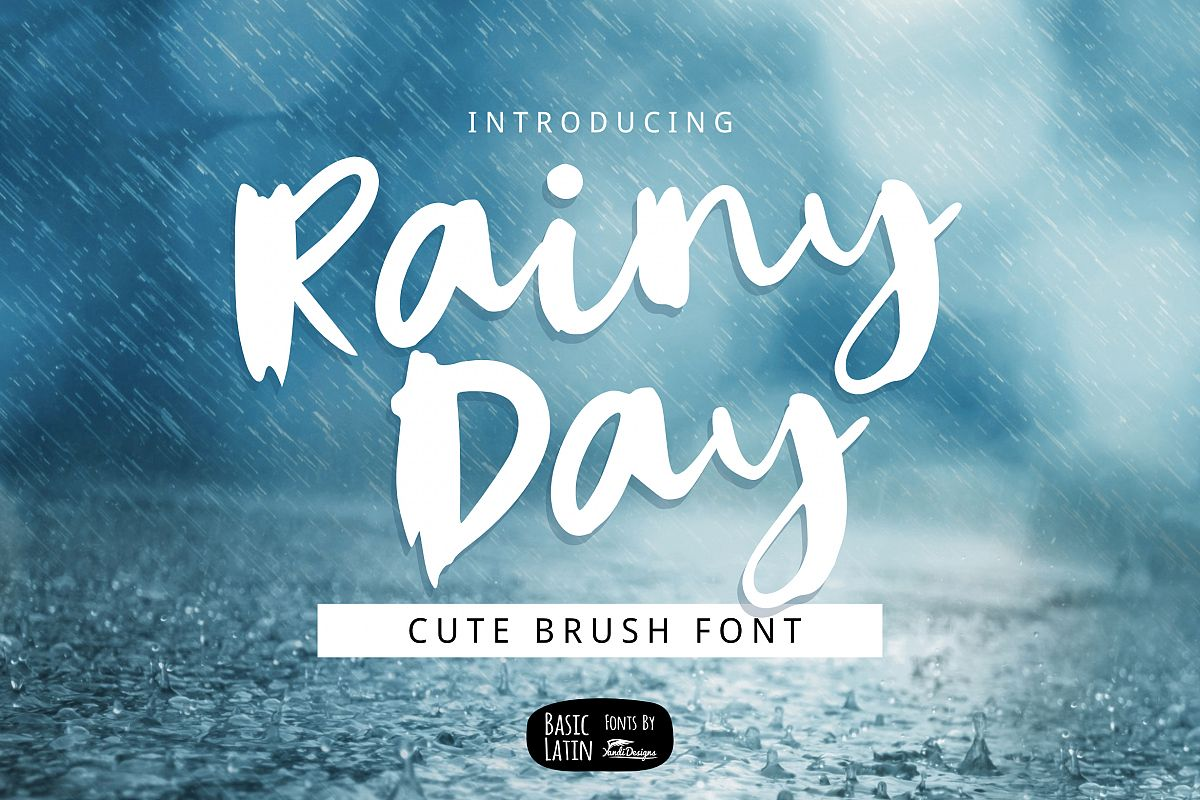 Rainy Day Brush Font example image 1