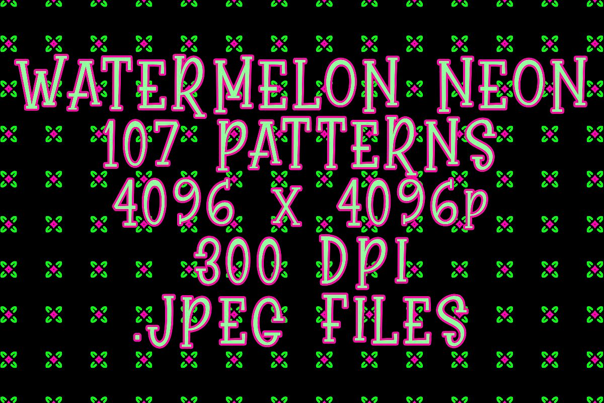 Watermelon Neon example image 1