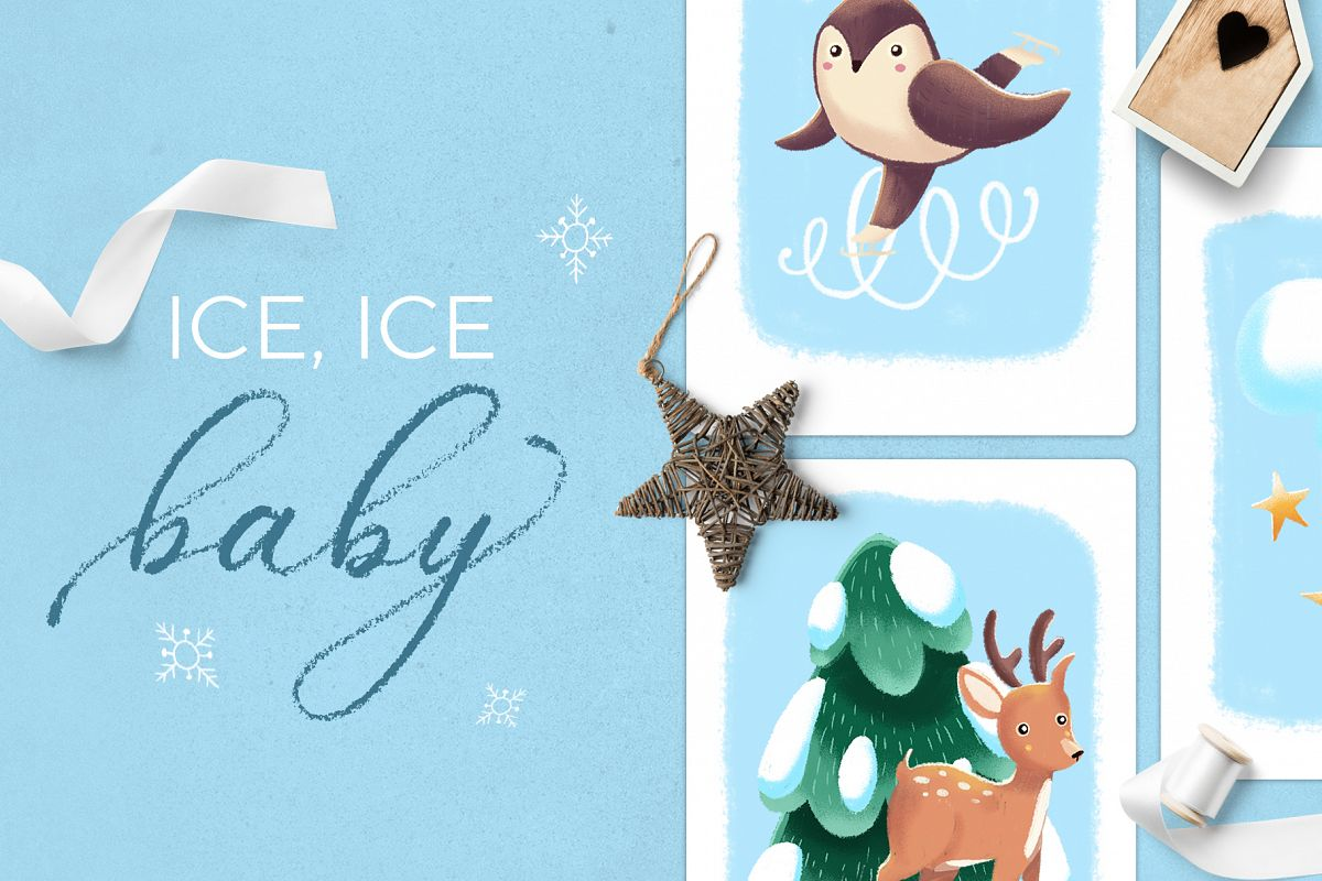 Ice Ice Baby winter scene creator example image 1