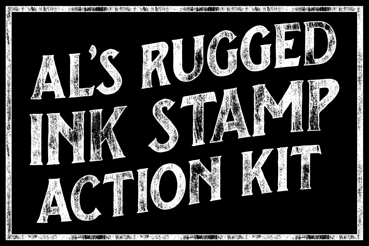 AL's Rugged Ink Stamp Action Kit example image 1