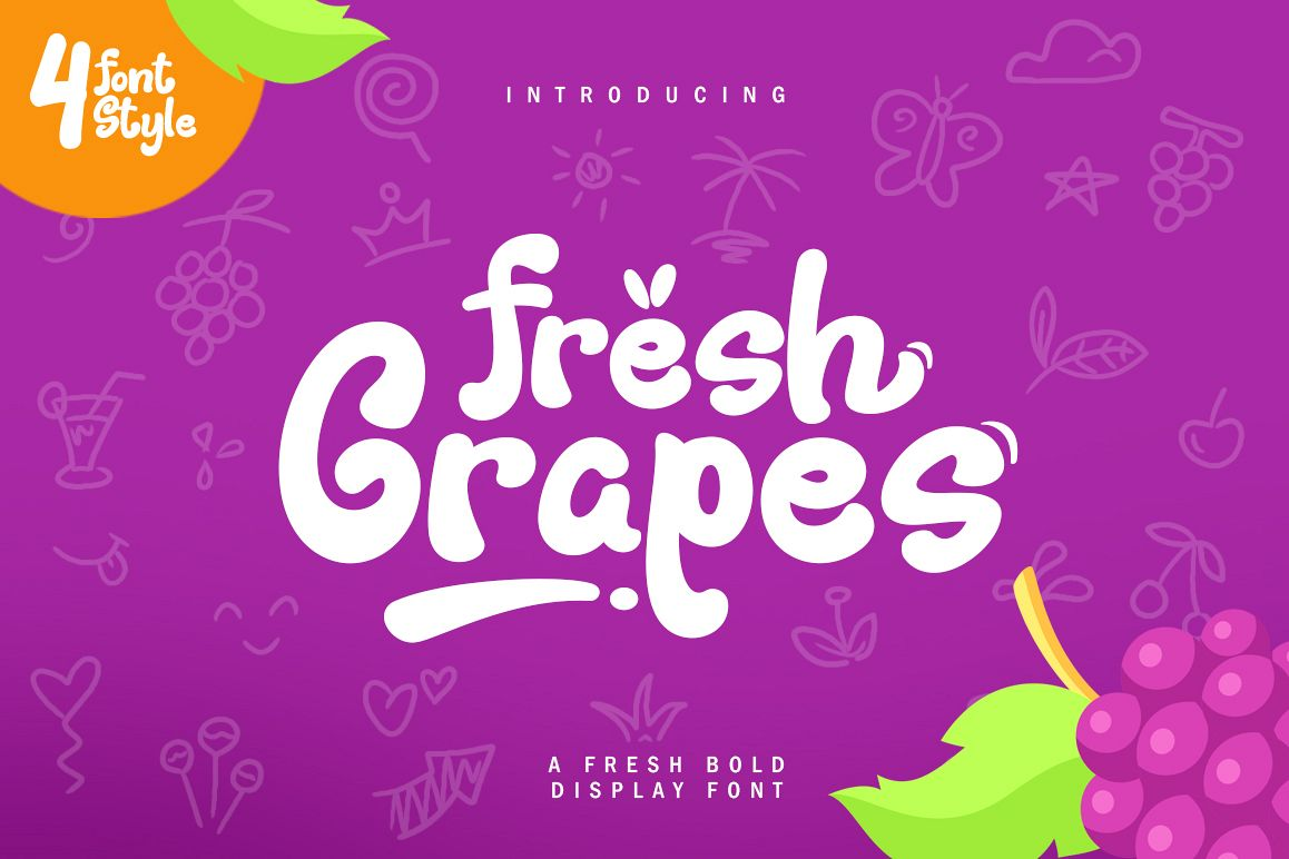 Fresh Grapes 4 Font example image 1