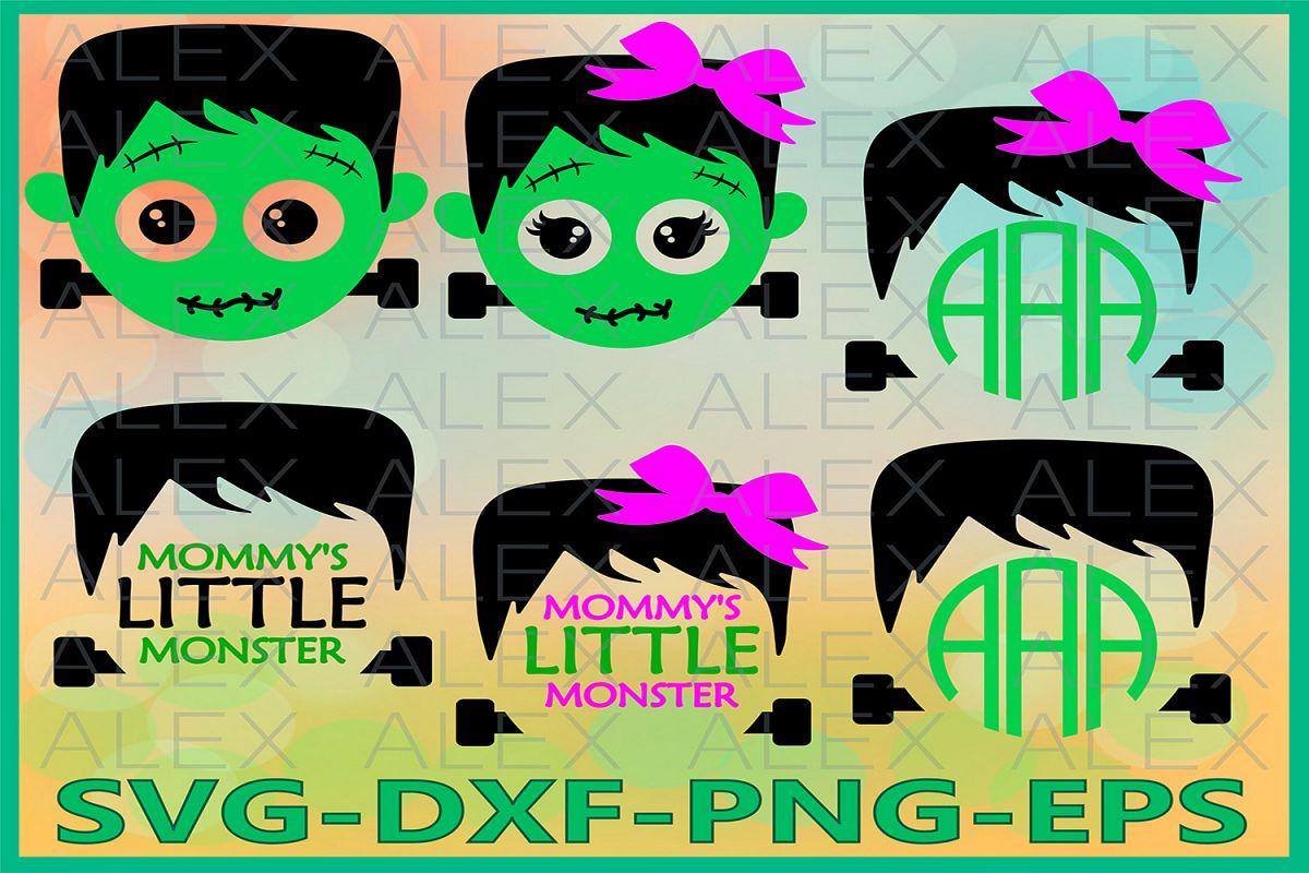 Halloween Svg, Frankenstein SVG, Girl Frankenstein Svg example image 1