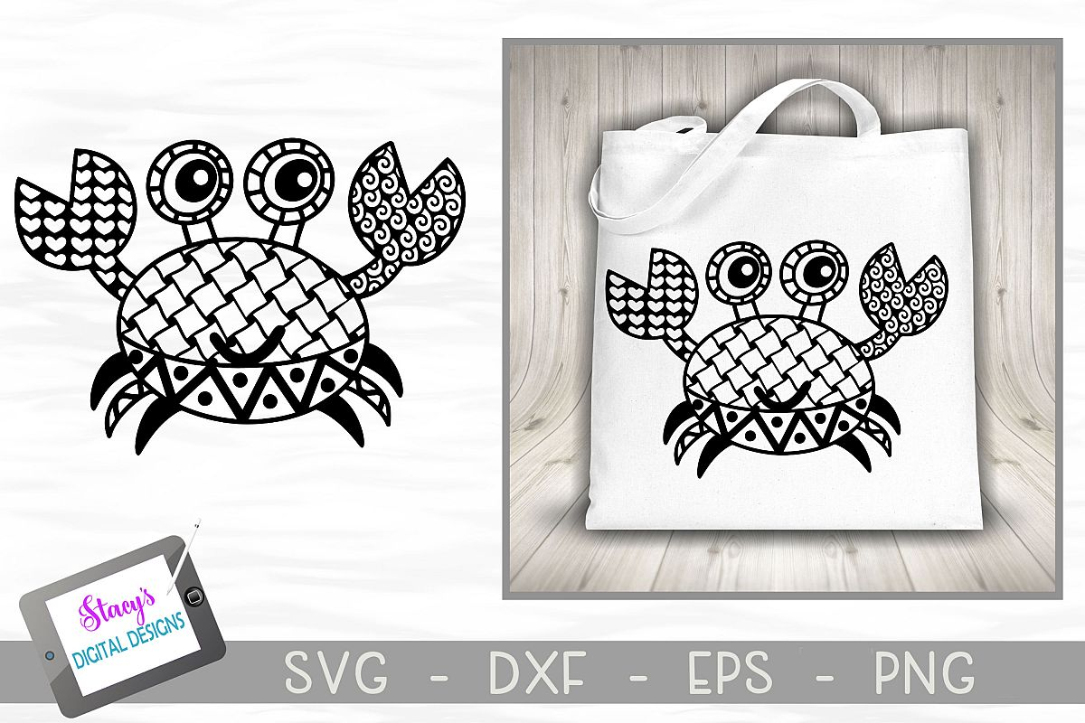 Crab SVG with Doodle patterns example image 1