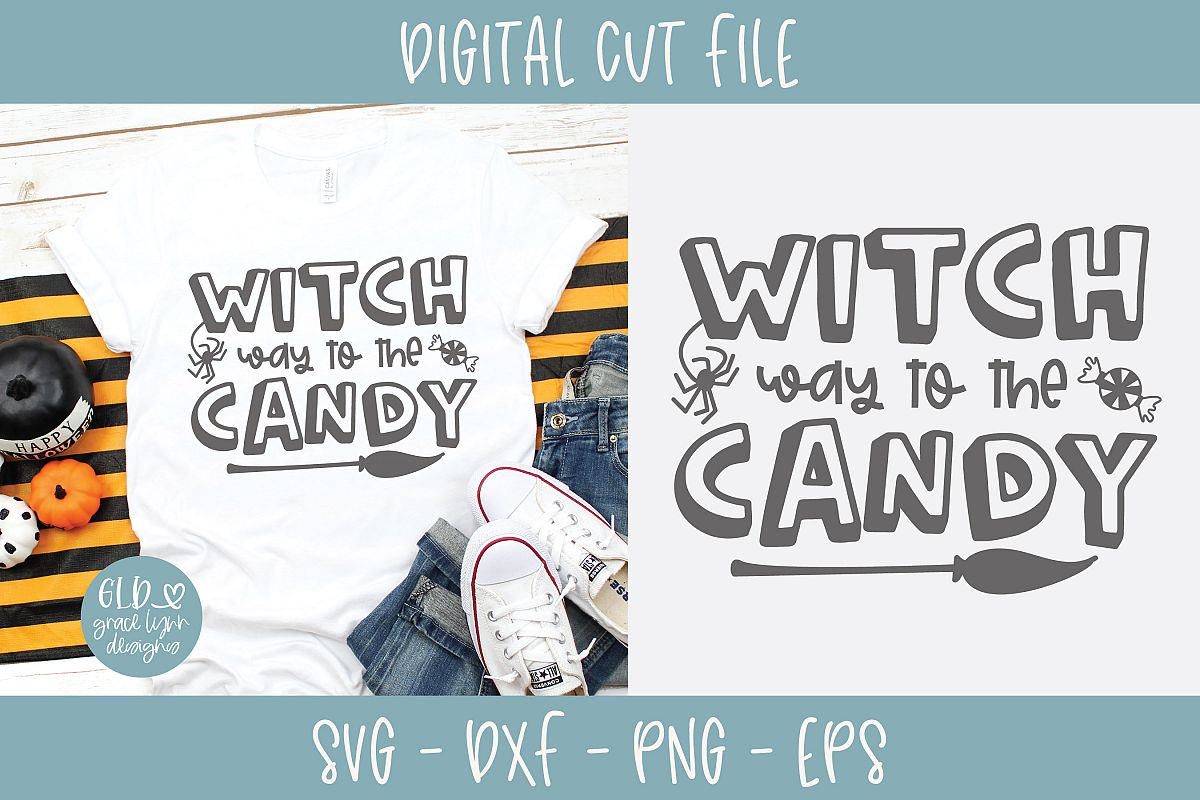 Witch Way To The Candy - Halloween SVG example image 1