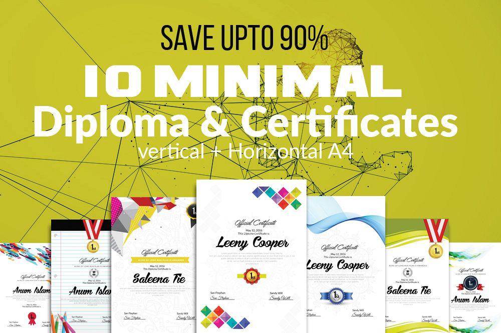 10 Certificates & Diploma Bundle example image 1