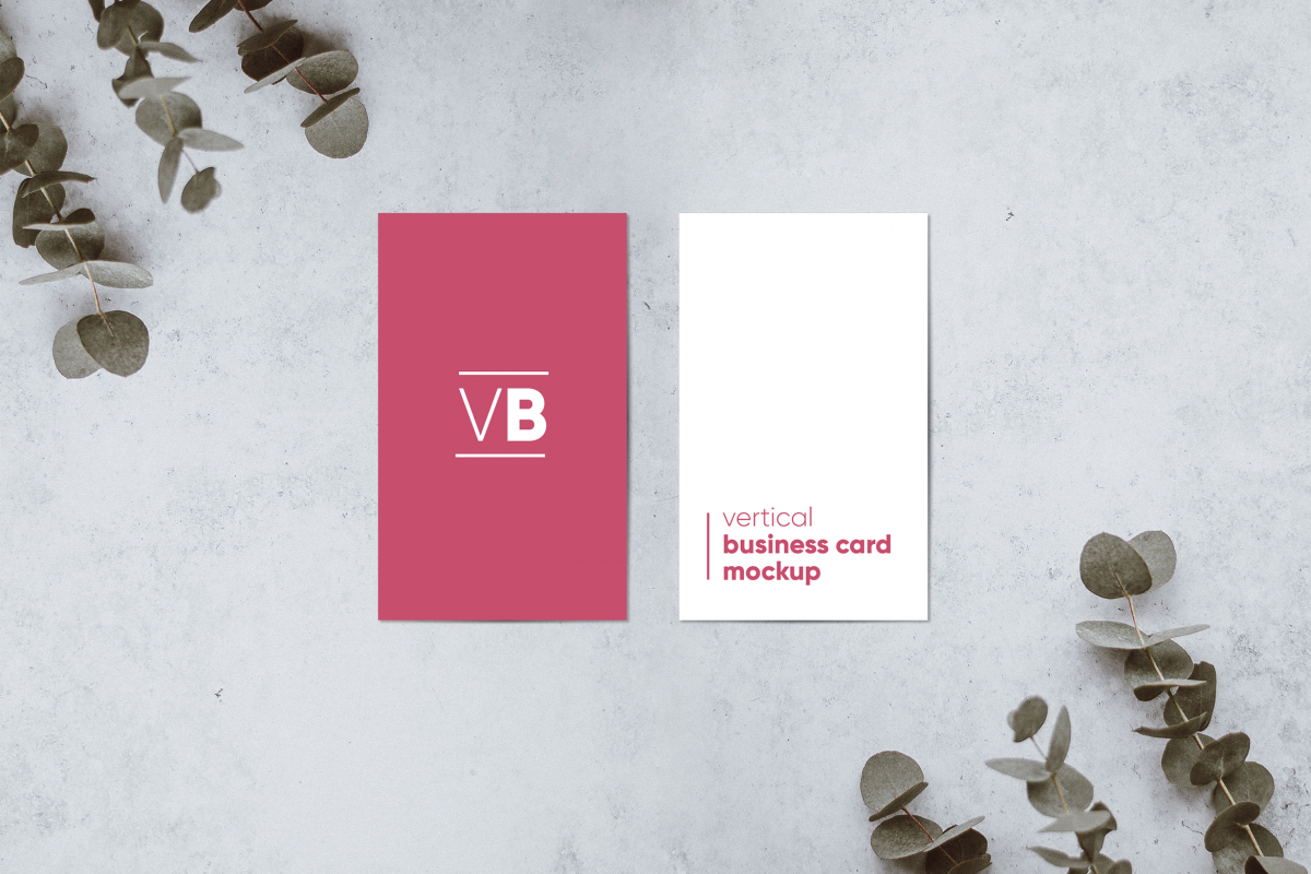 vertical business card mockup example image 1 - Vertical Business Cards