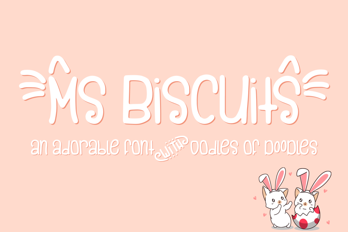 Ms. Biscuits - an adorable handwritten font with doodles example image 1
