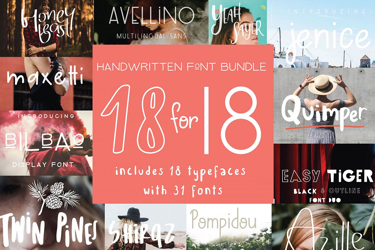 18 for 18 | Font Bundle for 2018 example image 1