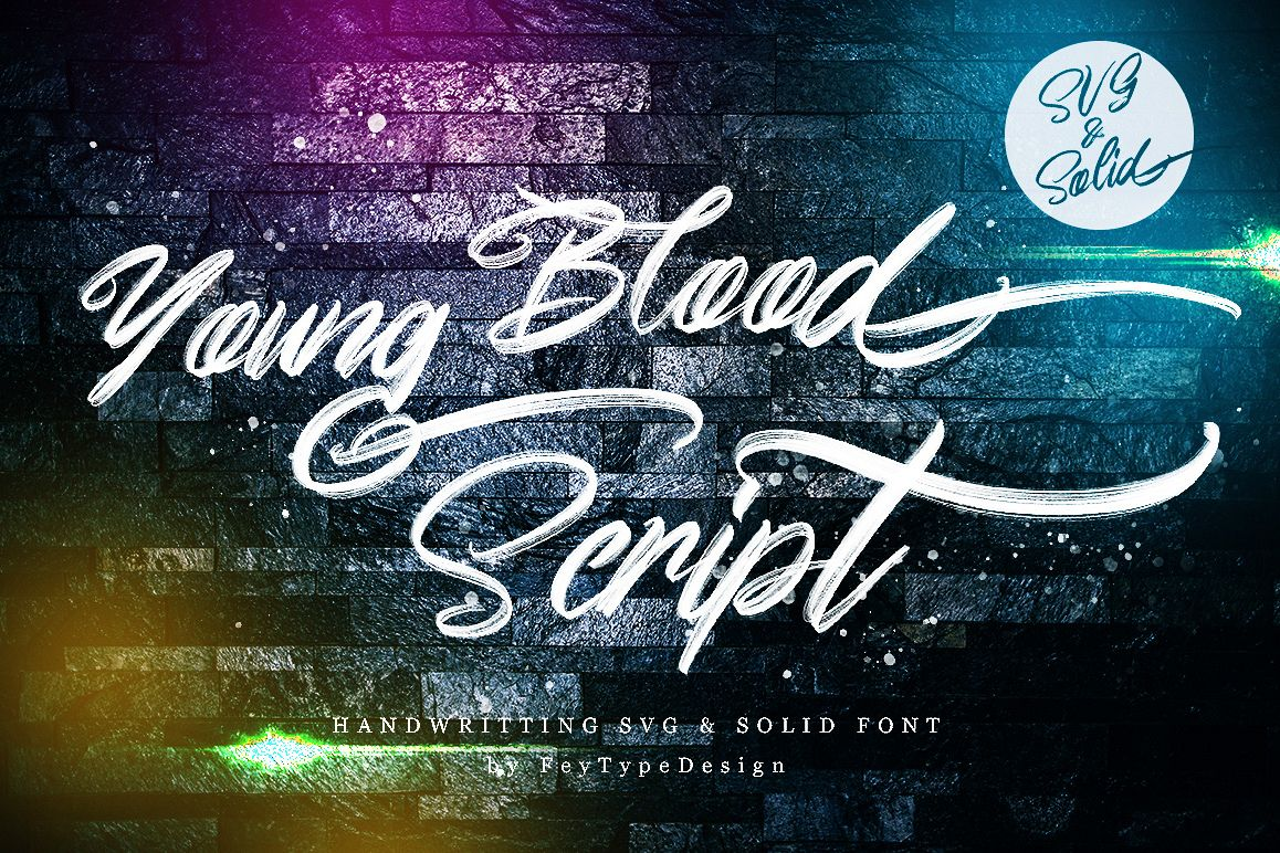 Young Blood - SVG & Solid example image 1