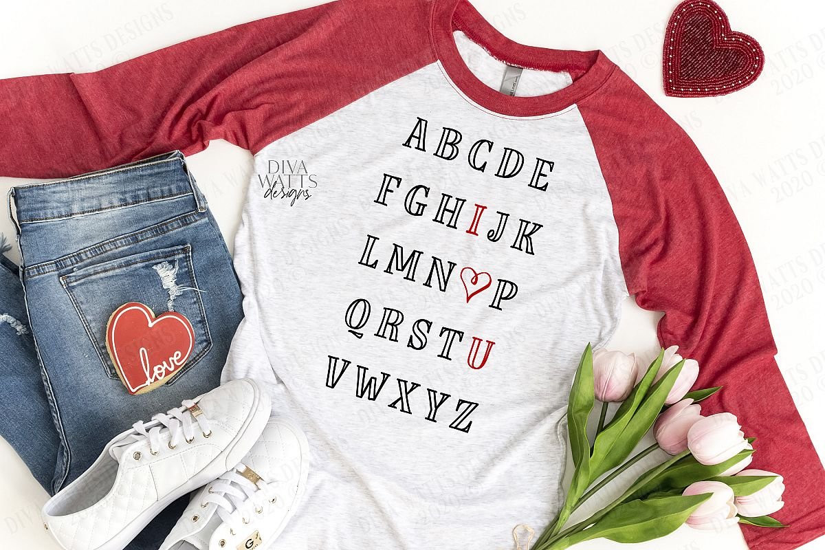 ABC I Love You Heart| Alphabet | Girl Boy | Teacher | SVG example image 1