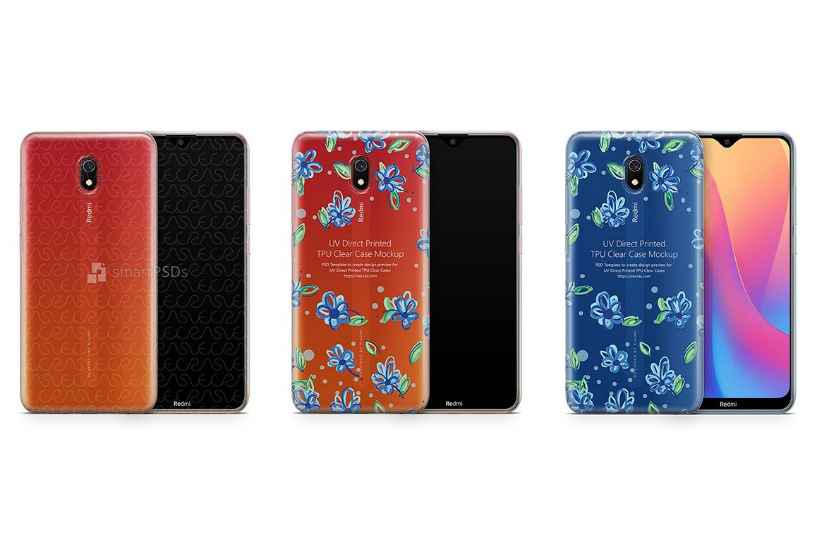 Redmi 8A 2019 TPU Clear Case Mockup example image 1