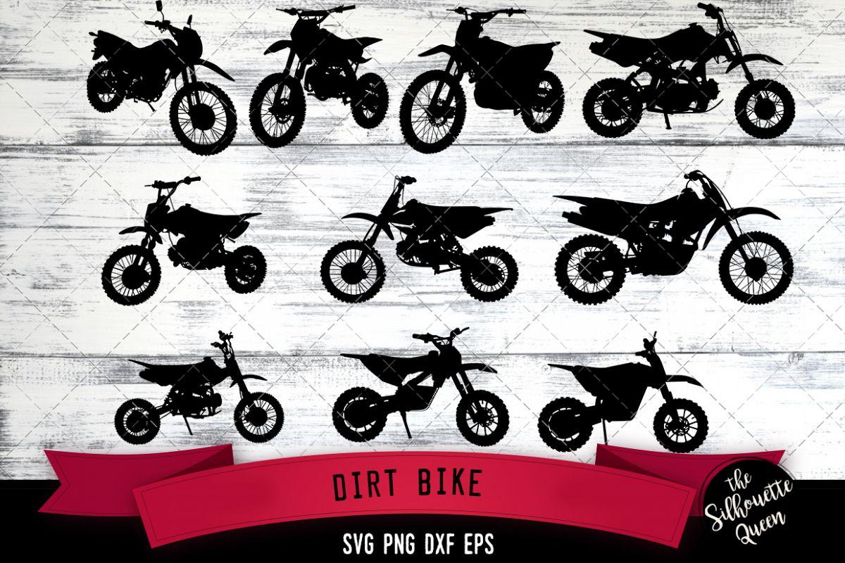 Dirt Bike svg file, motocross svg cut file example image 1