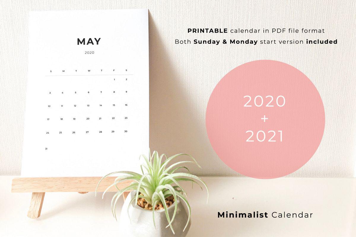 Mini Calendario 2020 Png.2020 Printable Minimalist Calendar