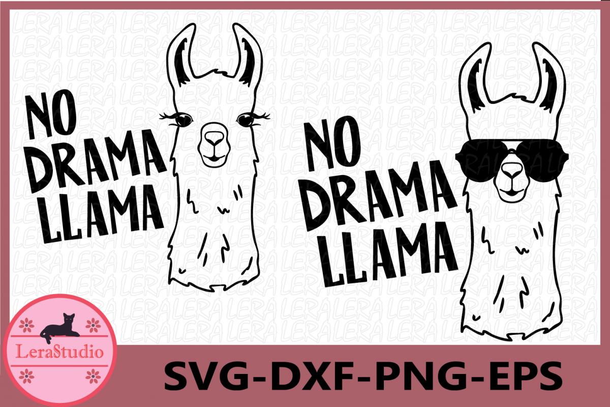 Llama SVG, No Drama Llama svg, Llama in glasses svg, lama example image 1