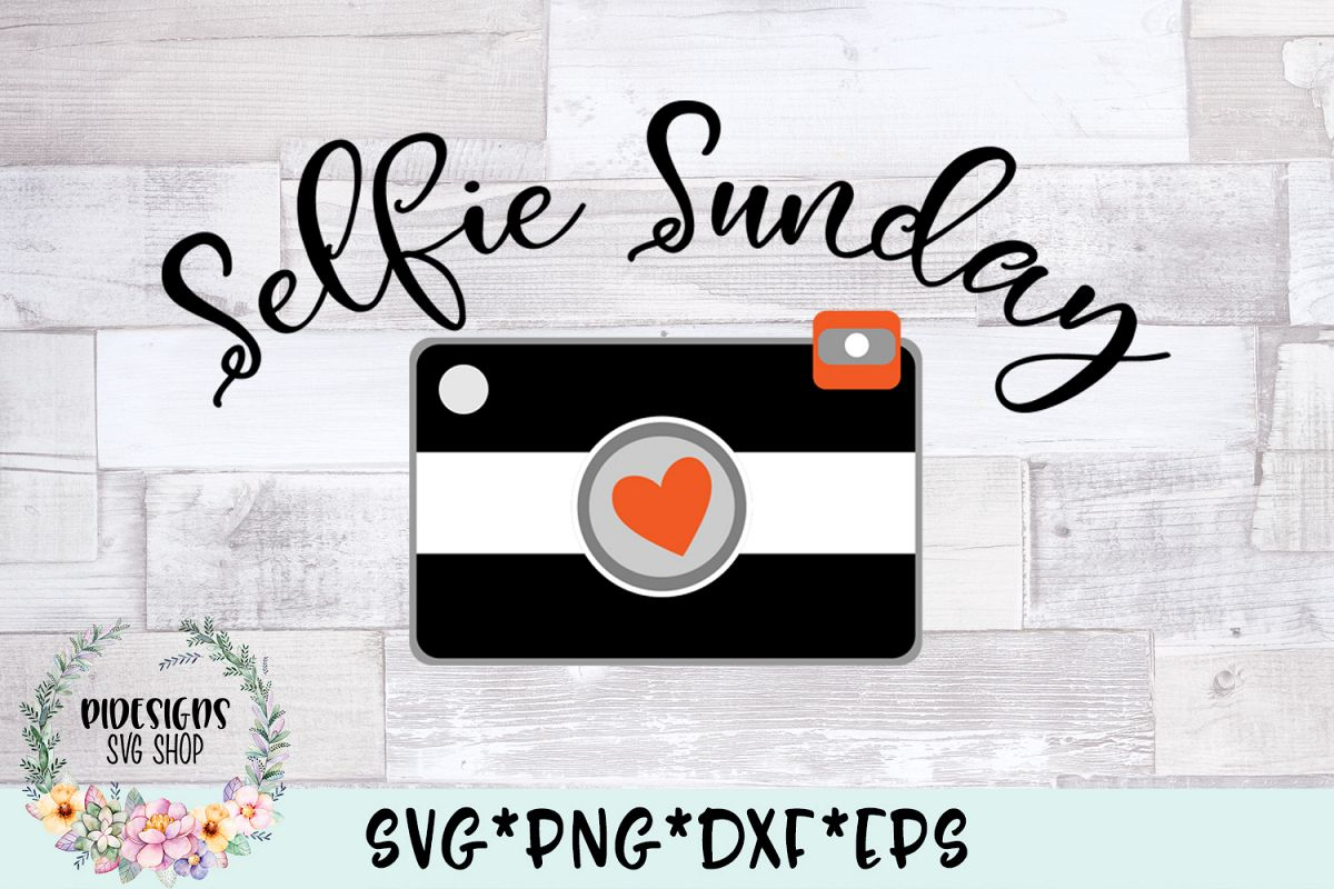 Selfie Sunday Photography SVG Cut File example image 1