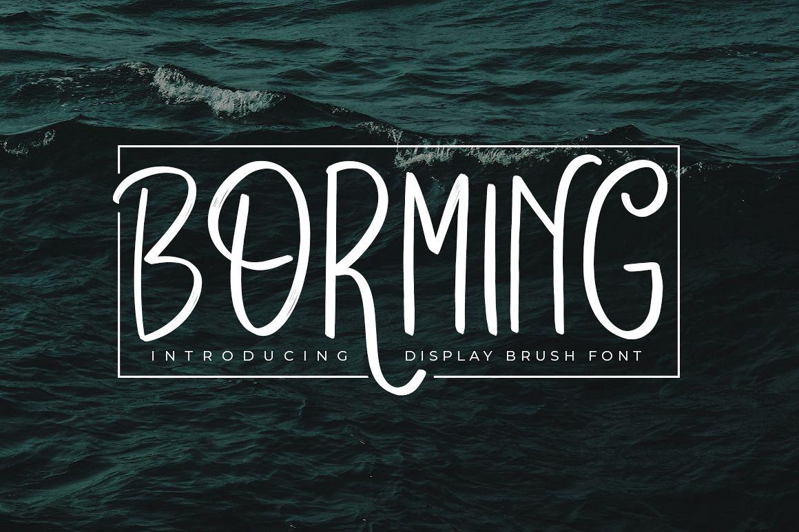 Borming Typeface example image 1